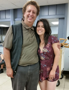 Here I am on set with the ridiculously funny Abbi Jacobson! Photo: Ilana Glazer (!)